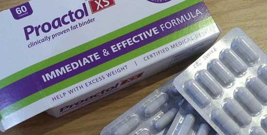Proactol est maintenant disponible en flacon, plutôt que dans la boîte habituelle (en photo ci-dessus)